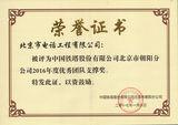 中国铁塔 2016年度优秀团队支撑称奖